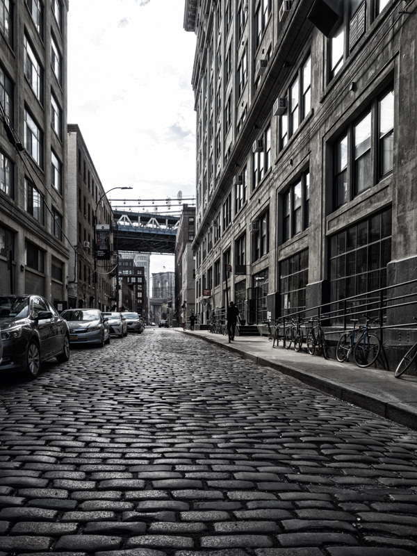 Dumbo Brooklyn cobblestone road
