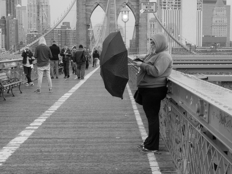 Brooklyn Bridge umbrella