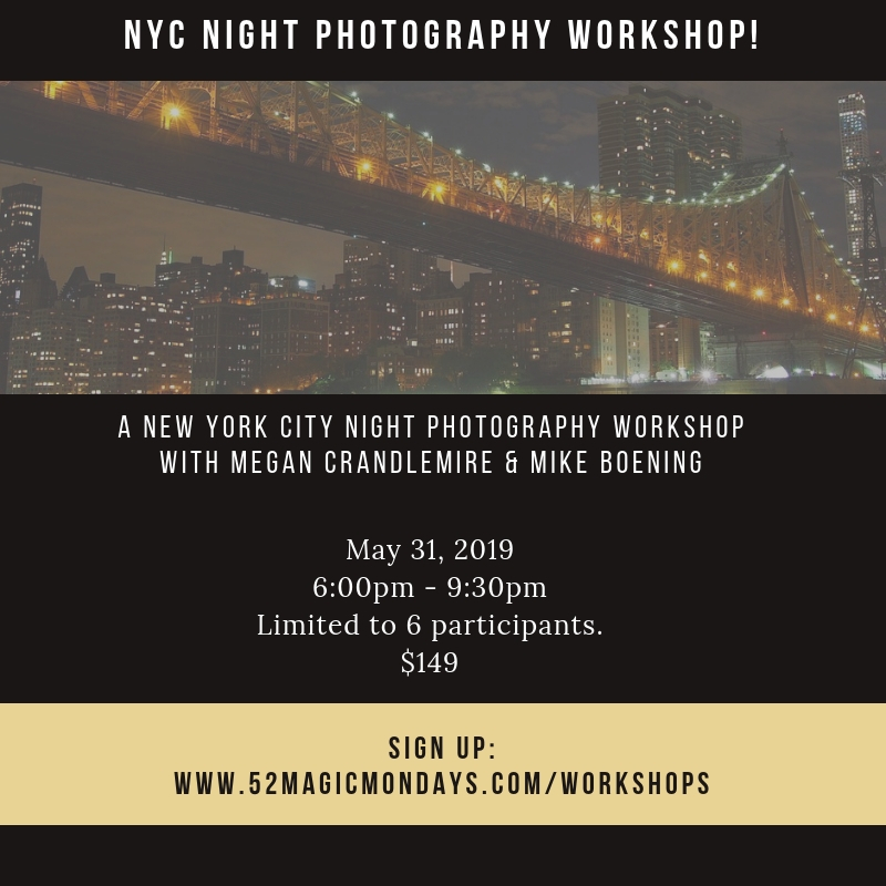 NYC Night Photography Workshop: May 31, 2019