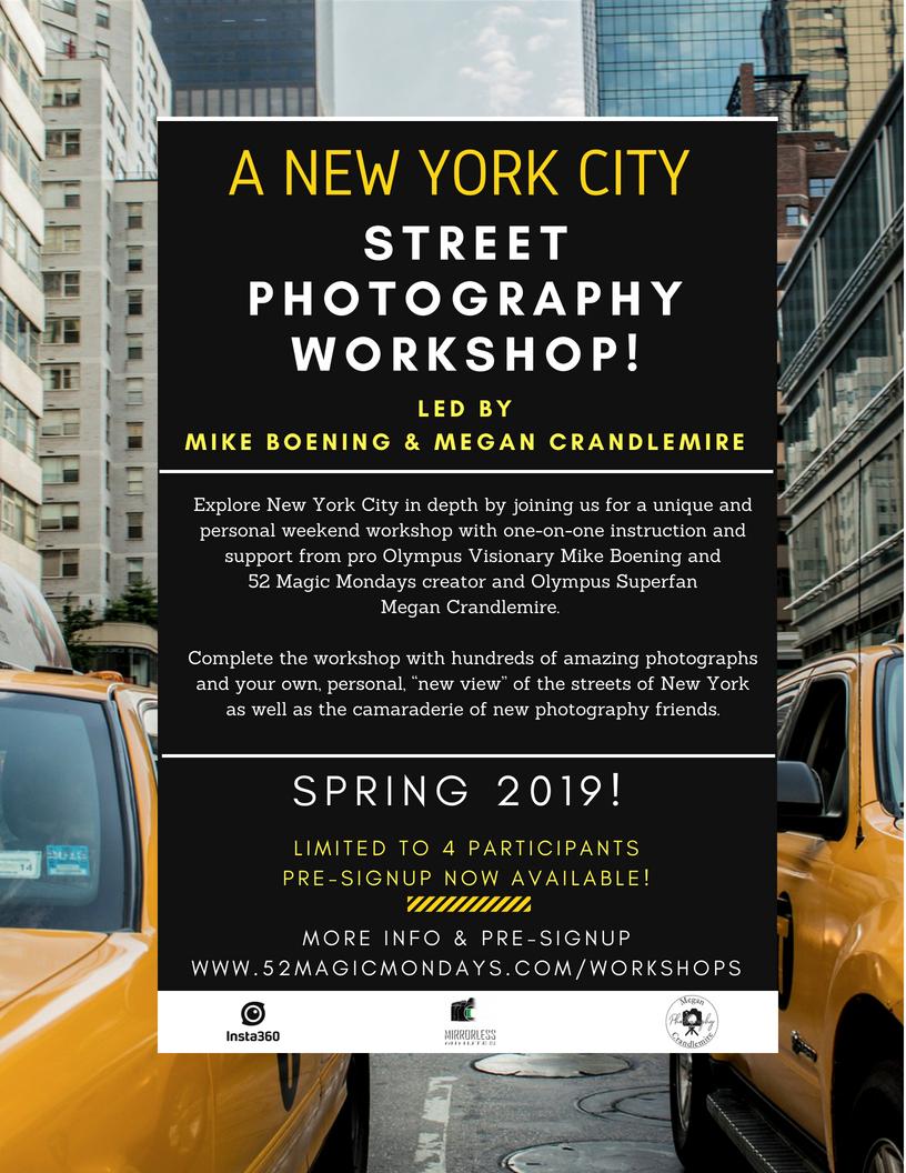 New York City: Spring 2019 Workshop!