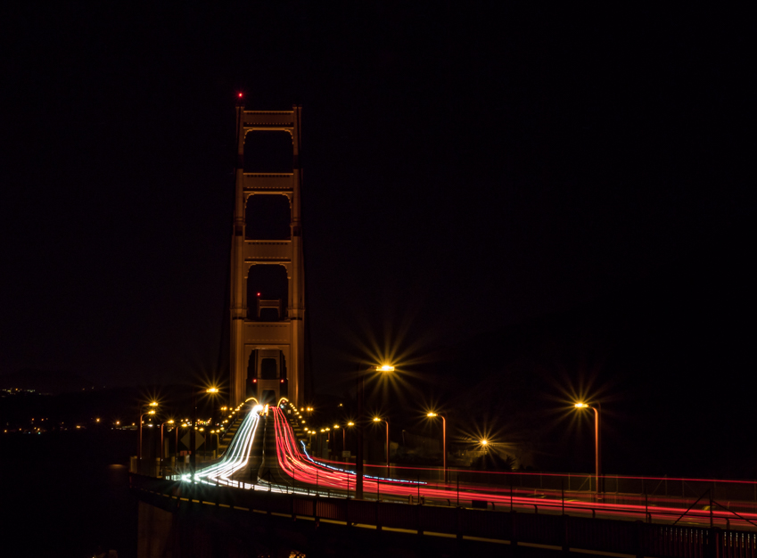 Golden Gate Bridge long exposure, olympus live composite, Megan Crandlemire Photography