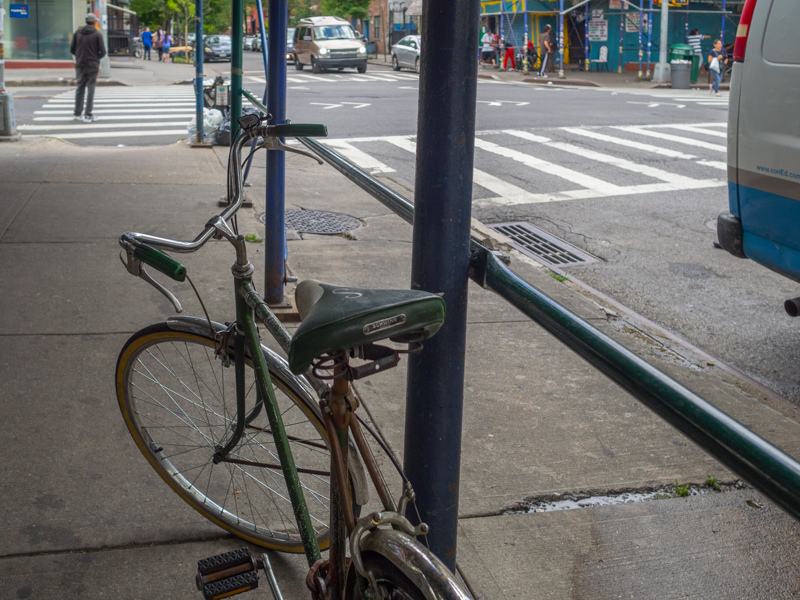 east village green bike, Megan Crandlemire Photography